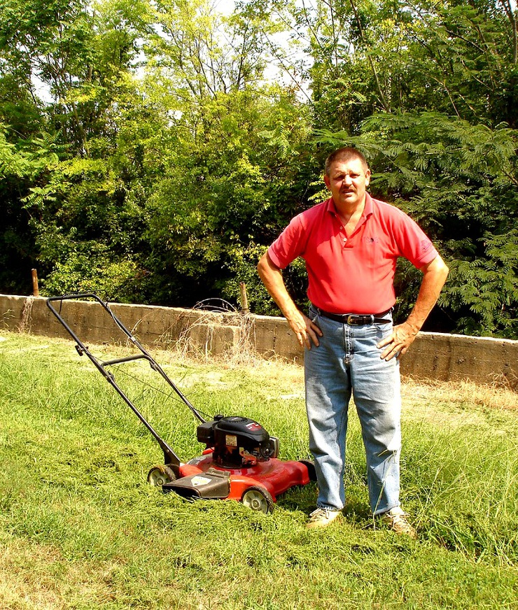 You can't come between a Tory MP and his lawnmower