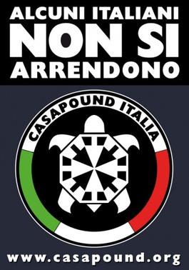 Manifeste de propagande de Casa Pound Italia
