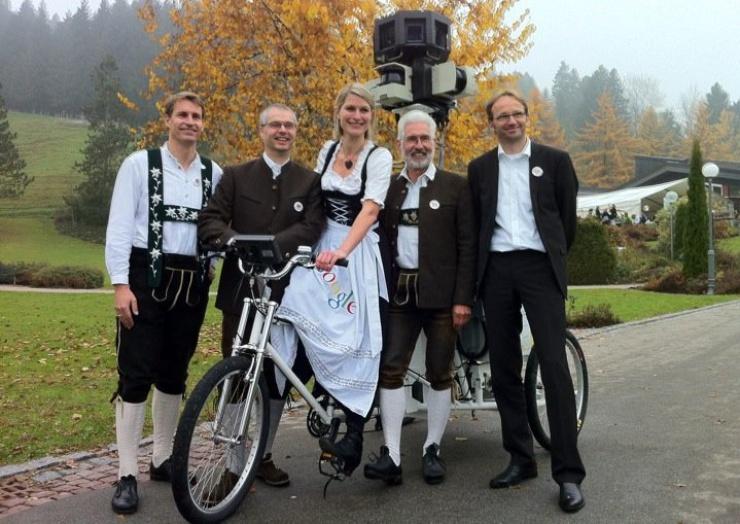 Des supporters de Google dans la région d'Allgäu, en Bavière