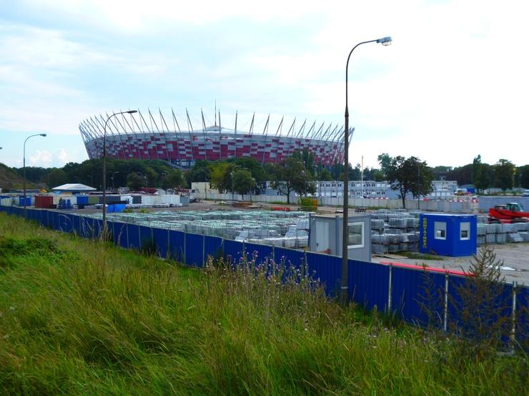Euro 2012 Warsaw stadium: once a bazaar hosting pop star popes