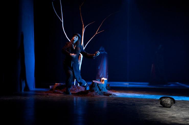 Una representación de la compañía teatral.