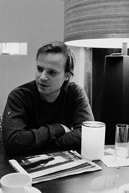 décontracté malgré son statut d'espoir du cinéma tchèque