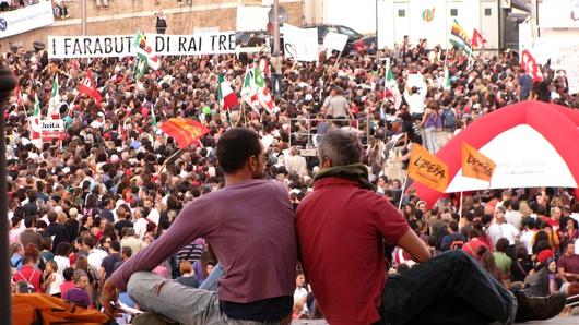 Manifestation à Rome, le 3 octobre 2009