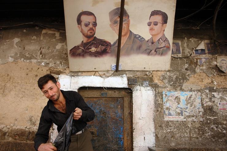 Working under the gazes of Hafez, Basil and Bashar al-Assad