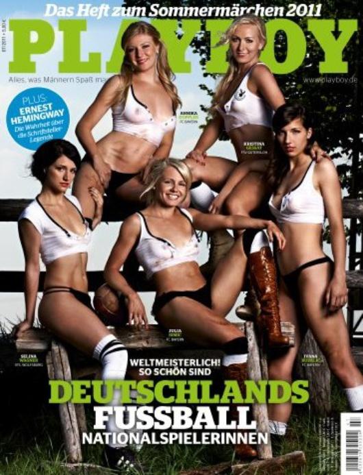 Die Fußballfrauen im Playboy