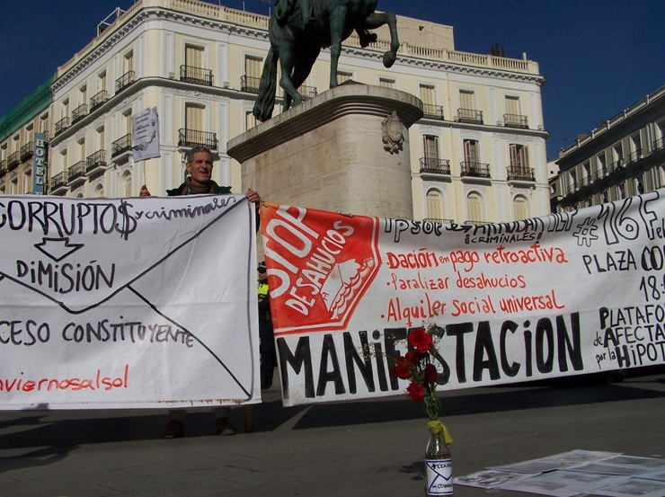 'Inviernos @Sol' - 'winters at Sol' is one of many offshoot protest movements taking place here