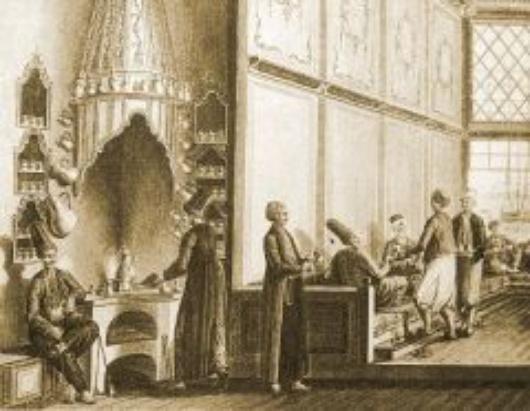 An Ottoman coffeehouse