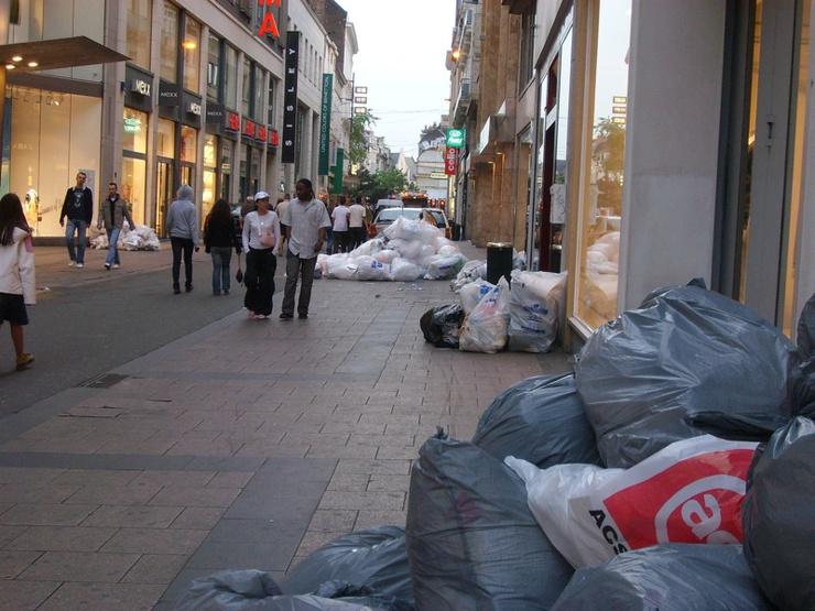 La capitale belge n'a pas de poubelles
