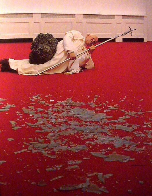 Suite à cet acte de vandalisme, la directrice de la galerie Zacheta a démissionné