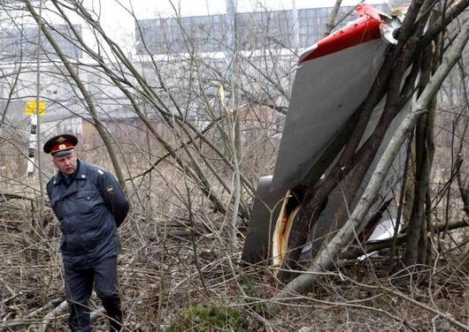 Pictured, Tupolev debris