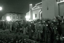 28 novembre 2009, circa 2.500 persone si sono riunite a Coccaglio per manifestare contro il razzismo (Foto di Laura Toffetti)