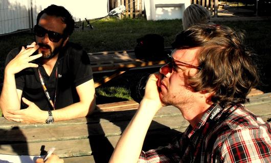 John Stargasm (au fond) et Jean Montevideo (devant)