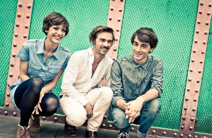 De izquierda a derecha, Fabienne, Michael y William.