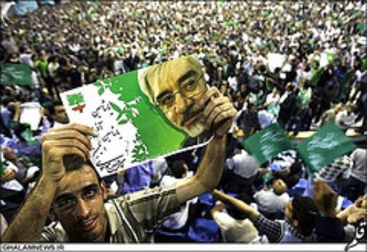 Mussavi in Tabriz vor den Wahlen (Flickr)