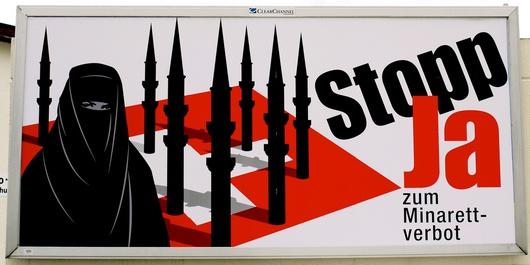 57.5% des Suisses ont voté pour l'interdiction des minarets