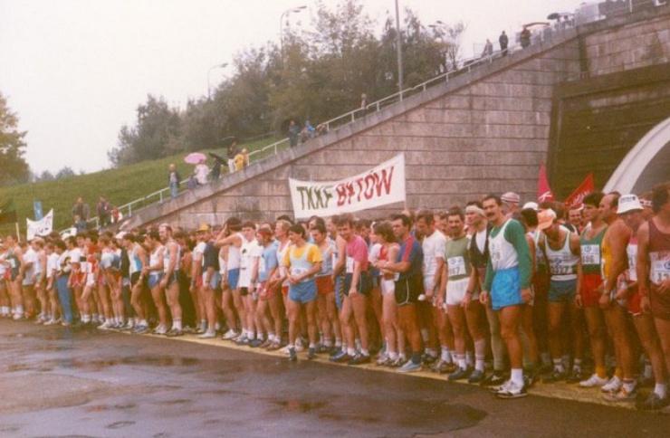 Przed maratonem na Stadionie Dziesięciolecia