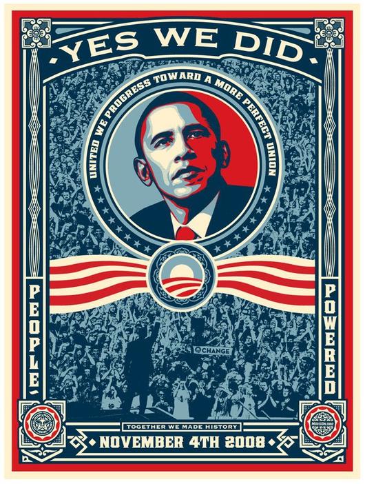 """Les slogans comme """"Hope"""" et """"Yes we can"""" font désormais partie de tous les manuels de communication politique"""