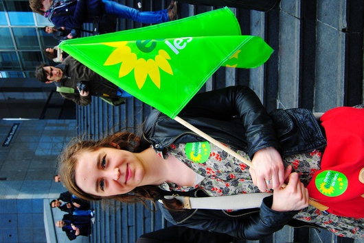 Jeune militante EELV crédits Susanna Arus