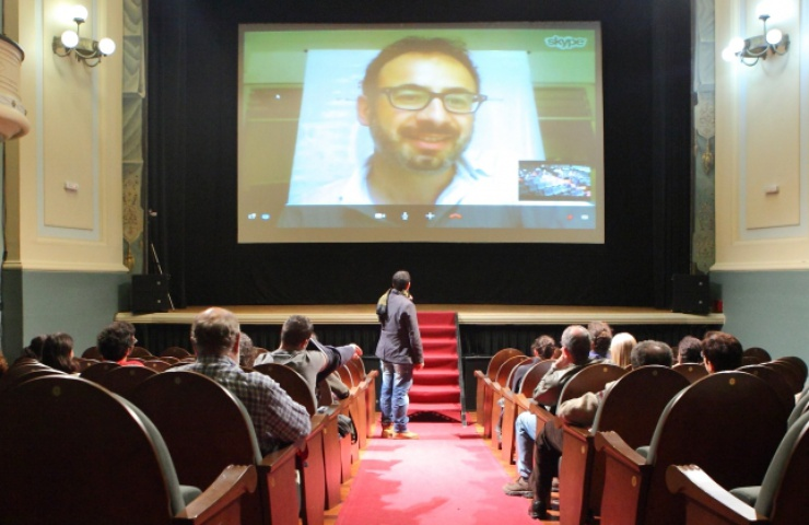 Internet a permis de débattre en direct entre public et équipe technique du film.