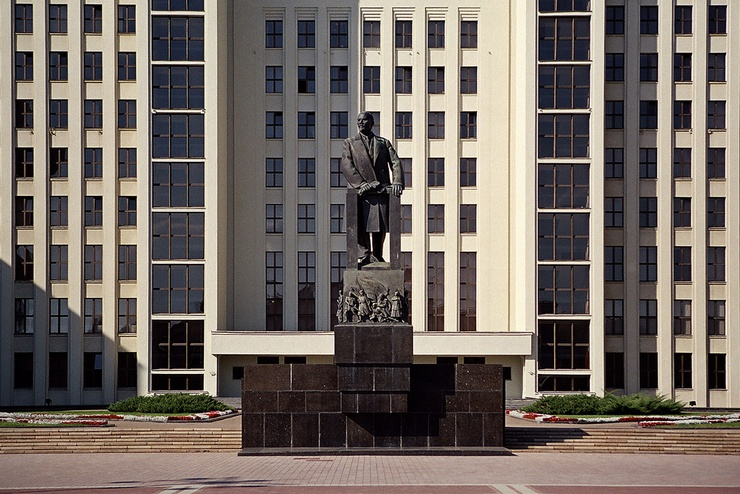 Independence square, first leader of the soviet union