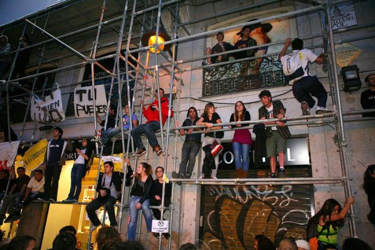 Die Spanishrevolution 'Democracia real - ya!'