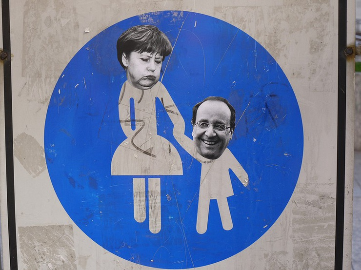 Merkel et Hollande.