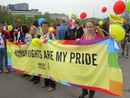 'Baltic Pride' successfully overturned a tribunal ruling to march with the likes of NGO Amnesty International on 8 May