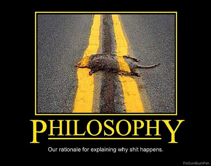 Voilà comment est traitée la philo...avec un raton écrasé