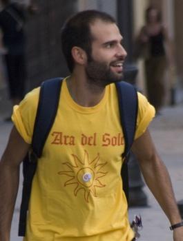 Der Italiener fühlte sich währen der Proteste in Spanien als aktiver Bürger.