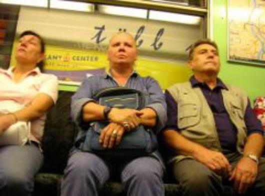 En el metro de Budapest