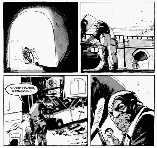 "(strona komiksu ""Brancaccio"")"