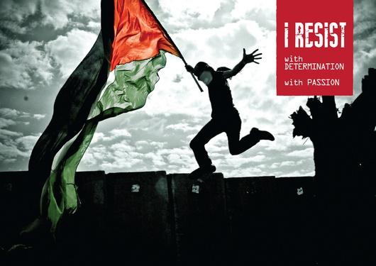 """Realizado por el colectivo """"I resist"""""""