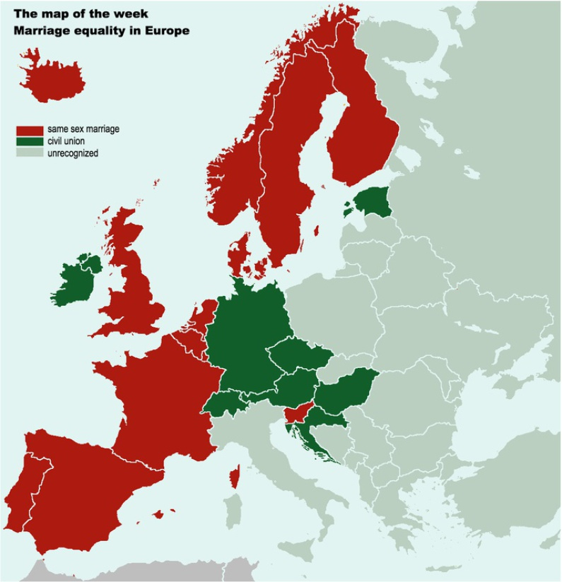 Viewpoints on gay marriage in europe