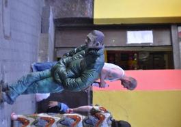 le héro en gomme du quartier de Praga