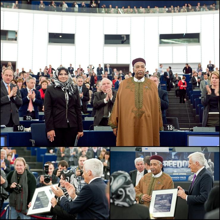 Au Parlement européen à Strasbourg.