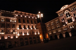 One of the main sqaures in Trieste
