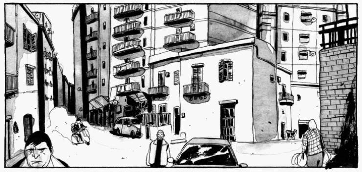 "(kadr z komiksu ""Brancaccio"")"
