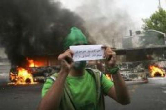 """""""Wir schreiben Mussavi, sie lesen Ahmadinejad"""" (Flickr)"""