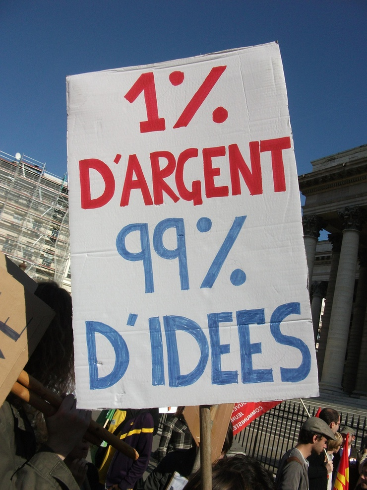 1 percent of the money, 99 percent of the ideas