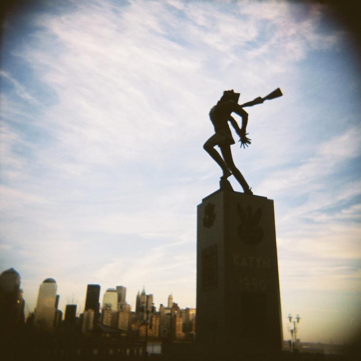 Werk von Andrzej Pityski, in der Montgomery Street, Jersey City in den USA