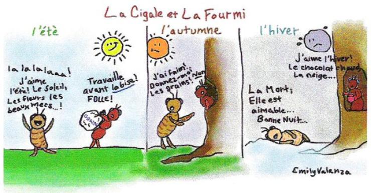 Provenant d'un mythe d'Esope, elle fut plus connue sous la plume de Jean de La Fontaine