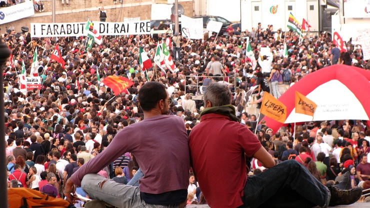 Protest in Rome, 3 October 2009