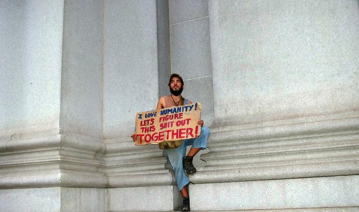 Imagen tomada durante las protestas de Occupy Wall Street, Septiembre 2011
