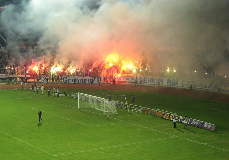 Petit sursaut d'humeur des supporters du club de la capitale, le Ankara Demirspor.
