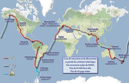 Tres años de ruta, cinco continentes, subidas de 5.000 metros y 50.000 kilómetros a lo largo de 40 países