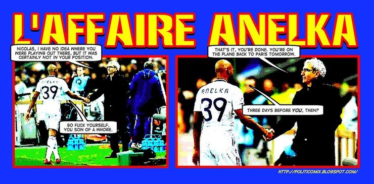 Frankreich, vsowohl auf dem Rasen als auch in den Kabinen vulgär, kam nicht über die ersten Gruppenspiele
