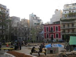 Le coeur de la contestation à Athènes