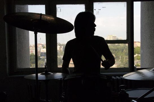 """Drummer in the dark"""