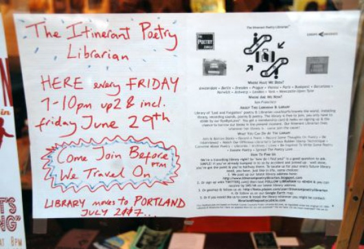 Itinerant Poetry Library (cc) Steve Rhodes