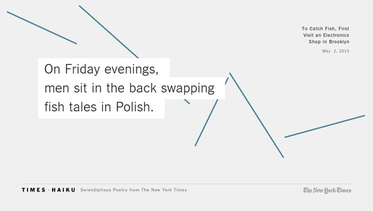 New York Times haiku
